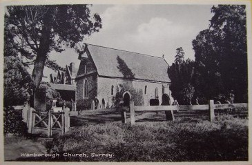 St Bartholomew Church, Wanborough, Surrey, England circa 1910 From the personal collection of Julie Goucher