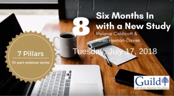 Six month in with a new study - Guild webinar July