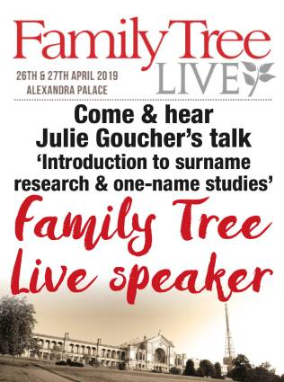 julie goucher family tree live