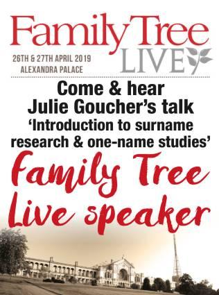 julie goucher family tree live