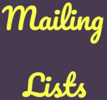 Mailing List(2)