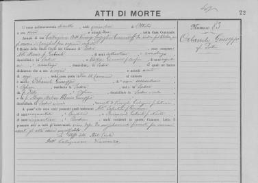 Giuseppe Orlando - Death 1918