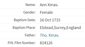 Ann Xmas Index