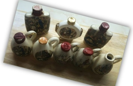 Orlando Cherry Brandy pots - Julie Goucher personal collection